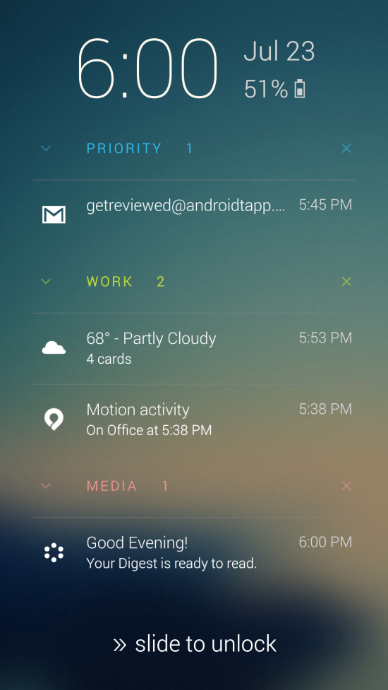 Echo Notification Lockscreen – smarter lockscreen notifications