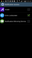 Echo Notification Lockscreen - Grant Notification Access