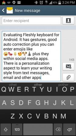 Fleksy Keyboard Emoji - Typing
