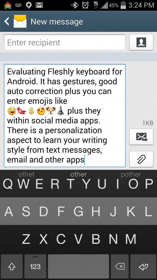 Fleksy Keyboard + Emoji. The most accurate & fastest keyboard