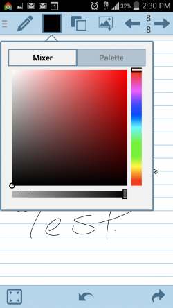 HandWrite Note and Draw - Color Picker
