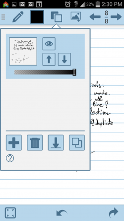 HandWrite Note and Draw - Note Options