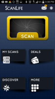 ScanLife QR and Barcode Reader - Dashboard