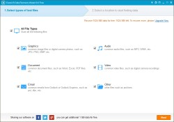 EaseUS Data Recovery Free - Select Types of Lost Files