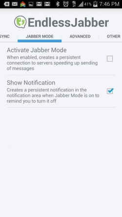 Endless Jabber App - Jabber Mode