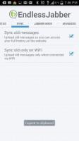 Endless Jabber App - Sync