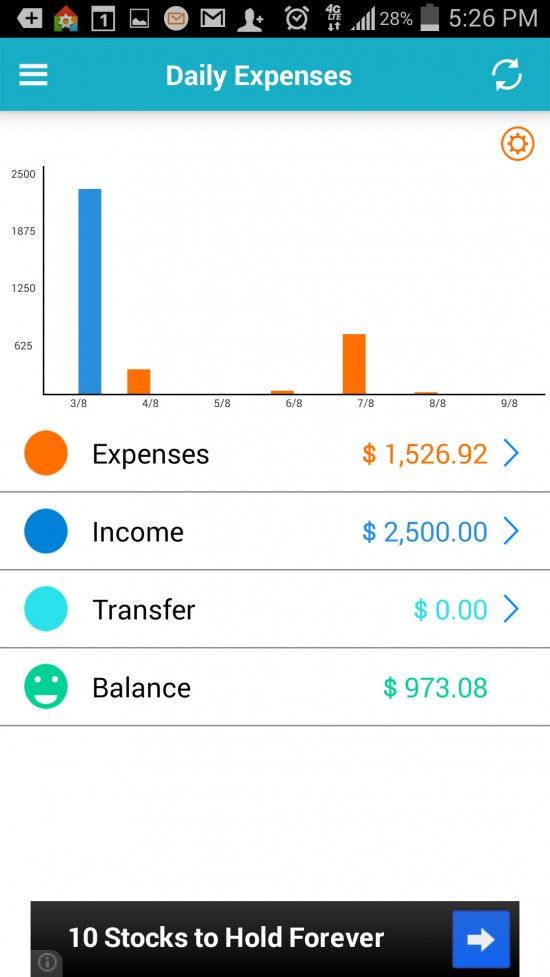 Expense Manager – keep track of finances
