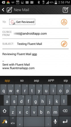 Fluent Mail - Composing Email