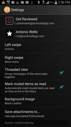 Fluent Mail - Settings 1