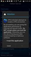 VPN Unlimited Hotspot Security - Warning