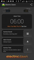 Electric Dawn Alarm Clock - Settings Alarm