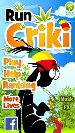 Run Criki - Start Screen