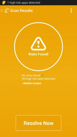 Trustlook Antivirus and Mobile Security - Risk Found