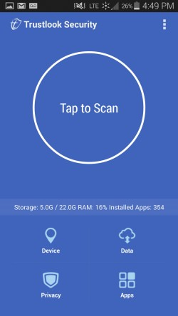 Trustlook Antivirus and Mobile Security - Scan