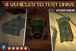 3D Parking Game Army Tanks 2