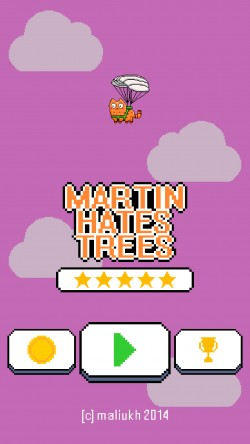 Martin Hates Trees - Start Screen