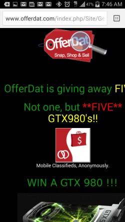 OfferDat - Giveaway