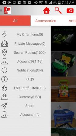 OfferDat - Menu