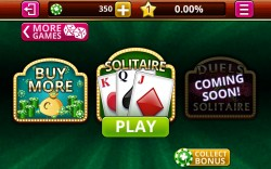 Solitaire Vegas - Home Screen