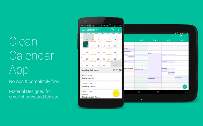 WAVE Calendar (e-CAL Calendar) – productive calendar with clean design