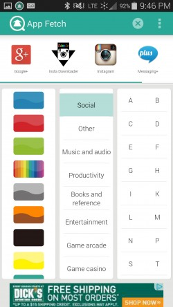 App Fetch - Category Filter 1