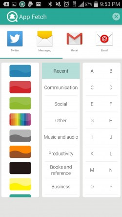 App Fetch - Recent Apps Filter