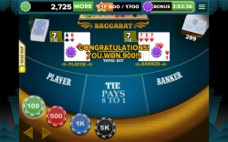 Baccarat 888 - Tie Game Pays 8 to 1