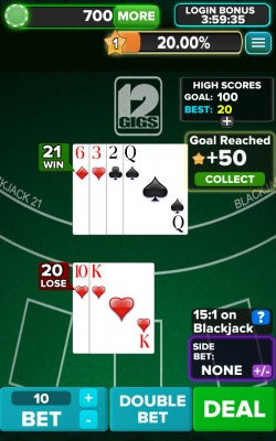 Blackjack 21 FREE - Dealer Win