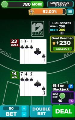 Blackjack 21 FREE - Gameplay 2