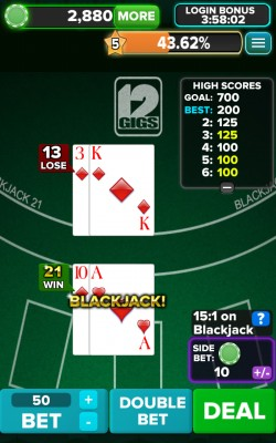 Blackjack 21 FREE - Gameplay 3