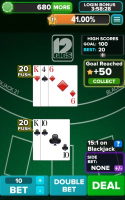 Blackjack 21 FREE - Push