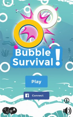 Bubble Survival - Start Screen