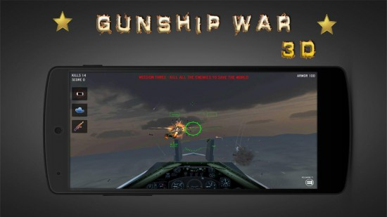 Gunship War 3D – amazing new gunships battle war game