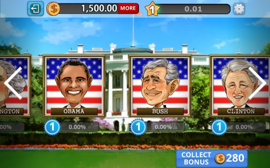 Obama Slots – play presidential themed casino slots