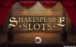 Shakespeare Slots - Splash Screen