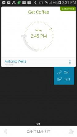 Uwana - Call and Text Options