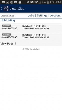 dictate2us - Job Status