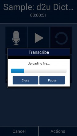 dictate2us - Uploading Files for Transcription