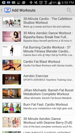 CardioCast - Add Workouts