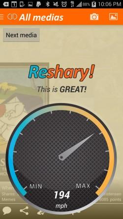 Reshary - Sharing Speedometer