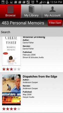 Audiobooks Now - Filter
