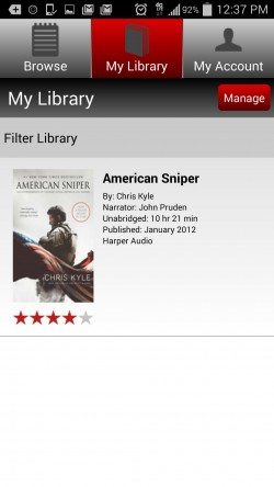 Audiobooks Now - My Library