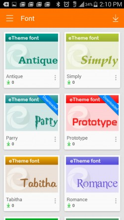 ETheme Launcher - Fonts