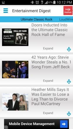 Entertainment News Digest - Rock News