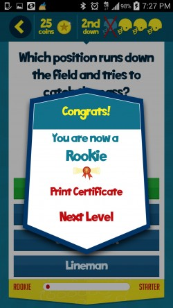 Kids Learn Football - Certificate