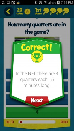 Kids Learn Football - Sample Question 1