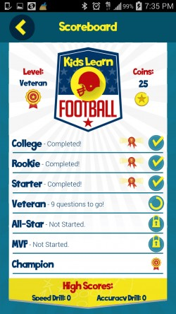 Kids Learn Football - Scoreboard