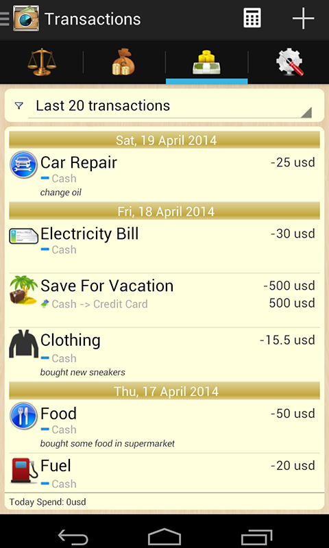 My Money Tracker – track your finances