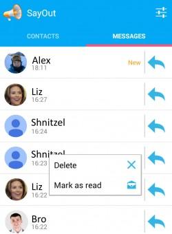 SayOut - Messages