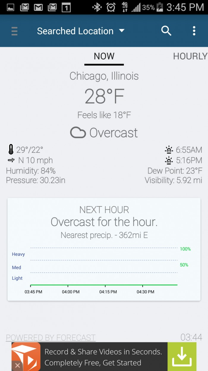 Arcus Weather – sophisticated hyper-local weather app